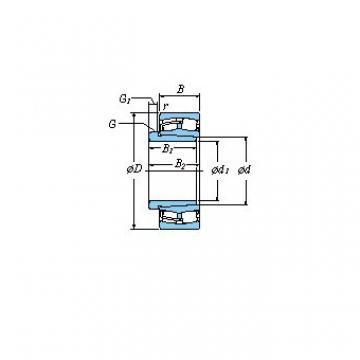 110 x 180 x 69 Bearing No. KOYO 24122RZK30+AH24122 Spherical roller bearings - Withdrawal sleeves