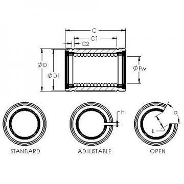 Bearing number AST LBE 50 AJ linear-bearings