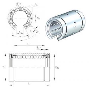 Bearing number INA KBO30 linear-bearings