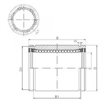 30 mm x 47 mm x 68 mm h Loyal KB3068AJ linear-bearings