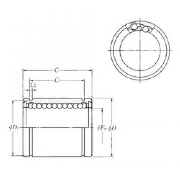Outer Diameter (mm) NTN KLM35 linear-bearings