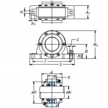 Housing mass(kg) KOYO V608 One-piece type