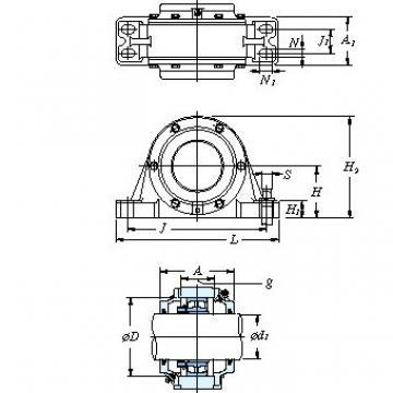 Housing mass(kg) KOYO V619 One-piece type