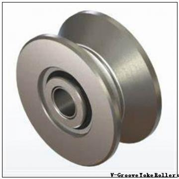 width to groove center: McGill VCYR 4 1/2 V-Groove Yoke Rollers